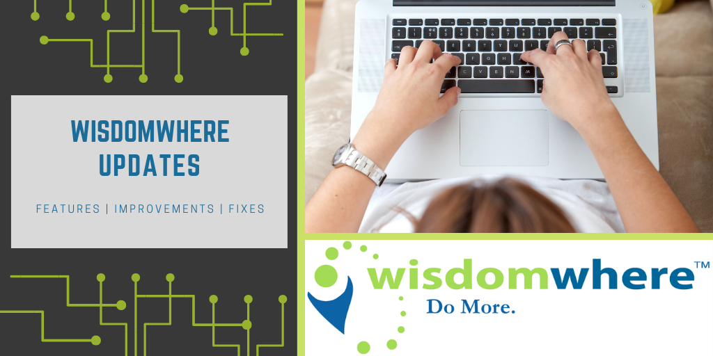 Wisdomwhere updates for May 2020